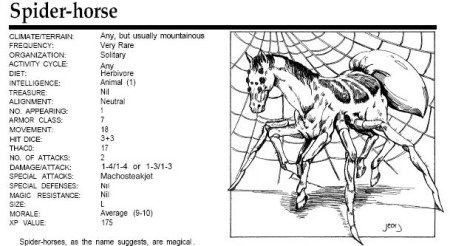 be neither afraid nor jealous of spider horse